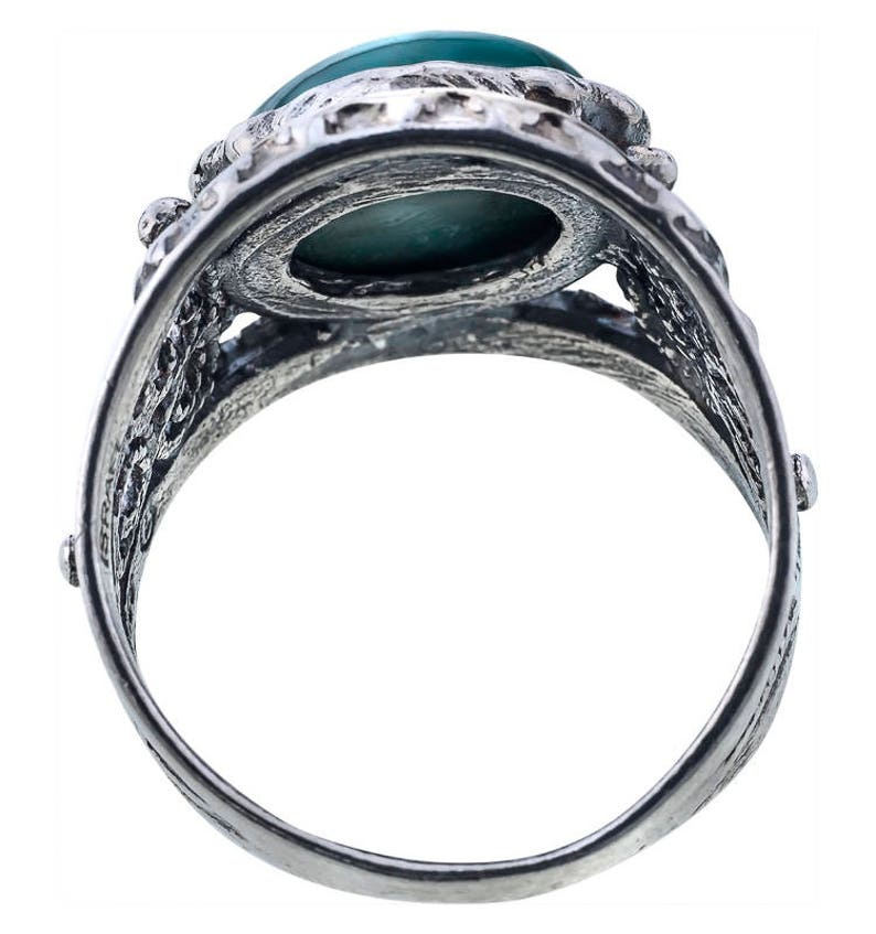 Malachite Ring Gemstone ring Silver and Gold ring Flower ring Unique silver ring Womens silver ring Floral ring handmade
