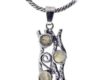 Sterling Silver Pendant, Moonstone pendant, Women pendant, Sterling silver, handmade