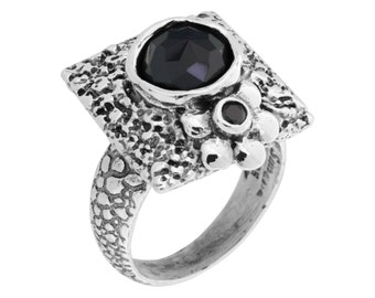 Silver Round Cubic Zircon Ladies Ring, Sterling Silver Cubic Zircon Ring, Zircon Ring,Silver Zircon Ring,Sterling Zircon Ring, handmade