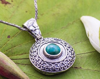 Sterling Silver Pendant, Turquoise pendant, Women pendant, Sterling silver, handmade