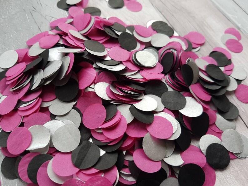 Silverblack And Hot Pink Cerise Circle Wedding Throwing Etsy