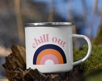 Chill Out Enamel Mug