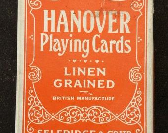 Vintage 1930's Hanover Playing Cards For Selfridge & Co Ltd London W.1. (Selfridges) By De La Rue. 1930's Selfridges Playing Cards.