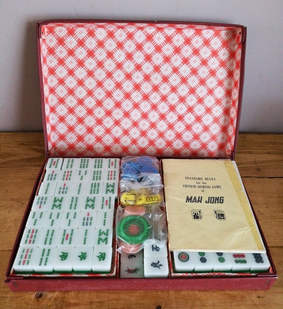 Vintage Mah Jong Complete 160 Piece Set In Original Box With Etsy
