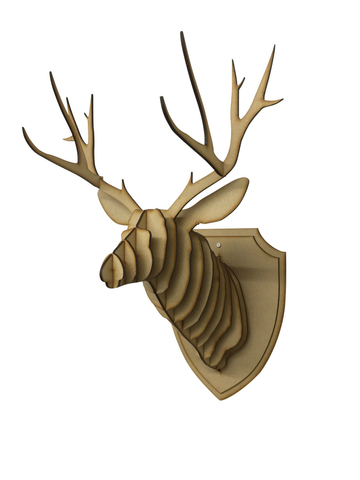 Large Small Wooden Deer Head Kit Wall