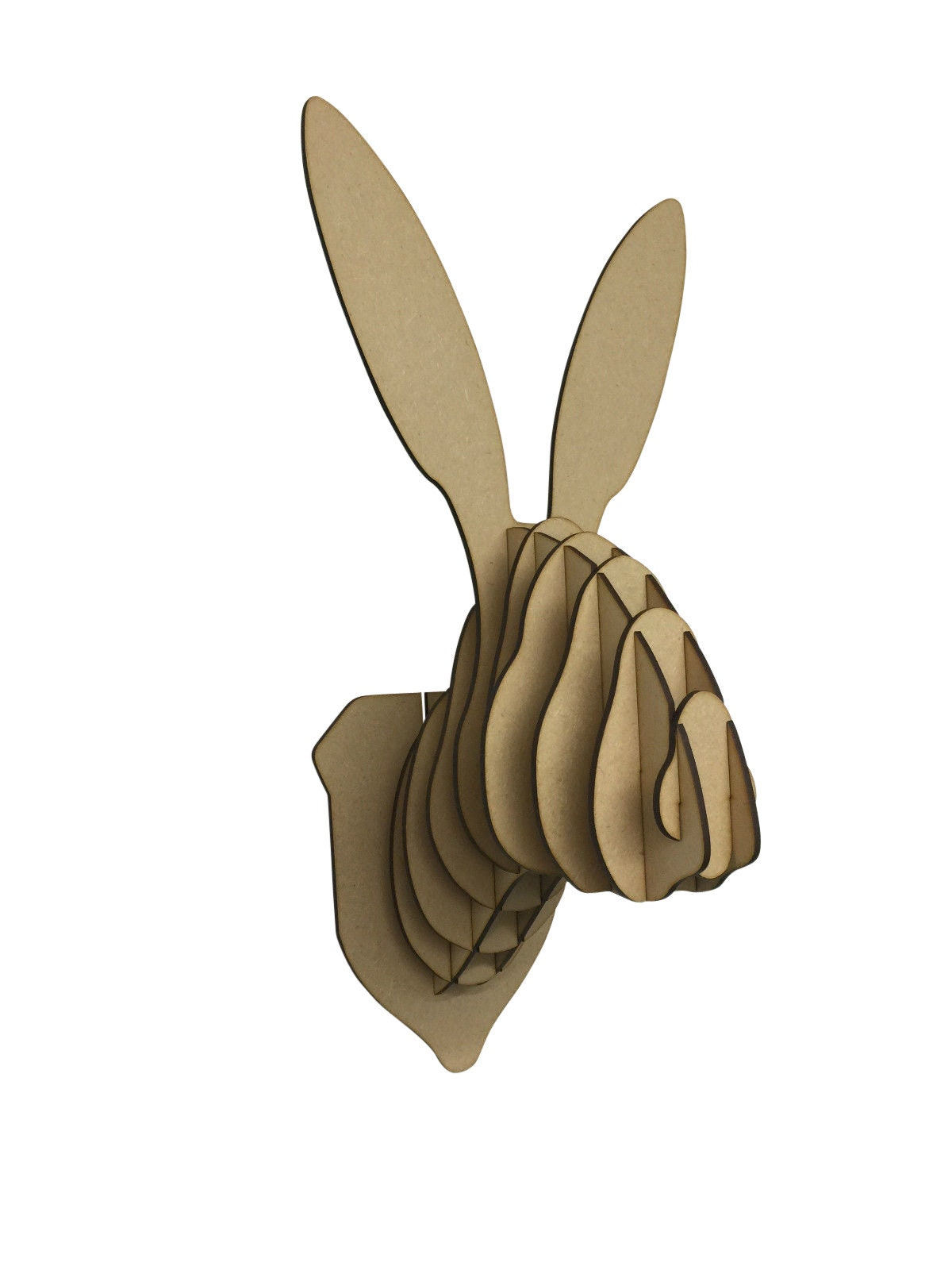 Large Small Wooden Rabbit Hare Animal Trophy
