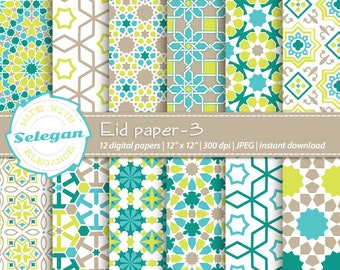 Eid Papers Arabic Pattern Islamic Pattern Ramadan Paper | Etsy