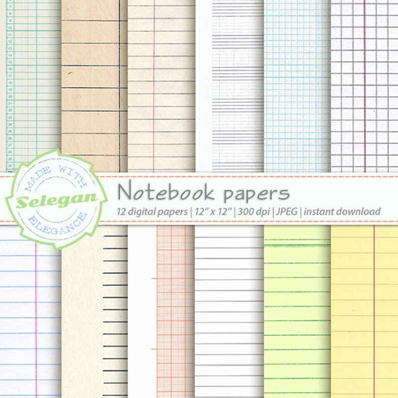 image regarding Printable Notebook Paper identify electronic printable laptop computer paper back again towards college electronic paper sbook paper textured paper
