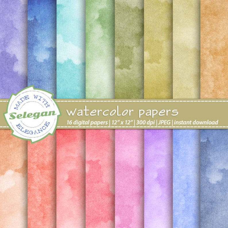 graphic regarding Printable Watercolor Paper titled Watercolor Papers electronic sbook paper, 12x12 printable behavior watercolour texture record down load