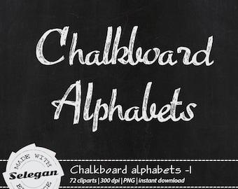 "Alphabet Clip Art "" Chalkboard Alphabets -1 "" Alphabet, Letters, Alphabet Letters, Alphabet Clip Art, hand drawn letters"