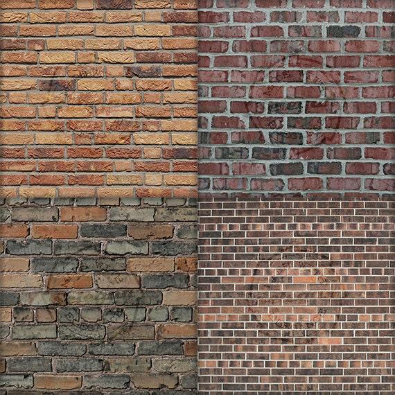 Brick Texture Scrapbook Paper Wall 1