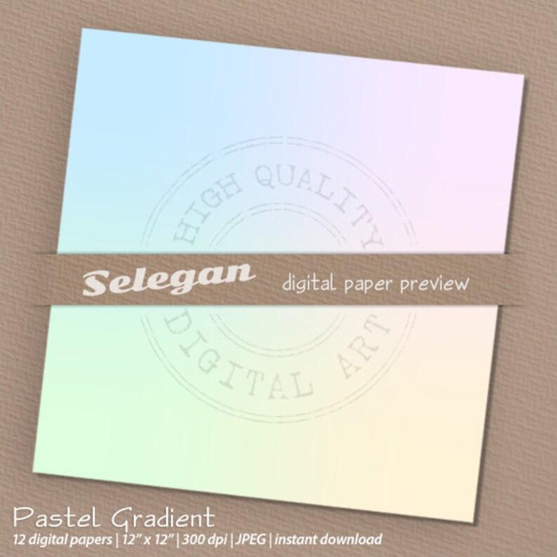 gradient paper  Pastel Gradient  digital scrapbook image 0