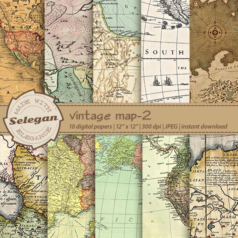 image relating to Printable Vintage Maps titled map electronic paper, \