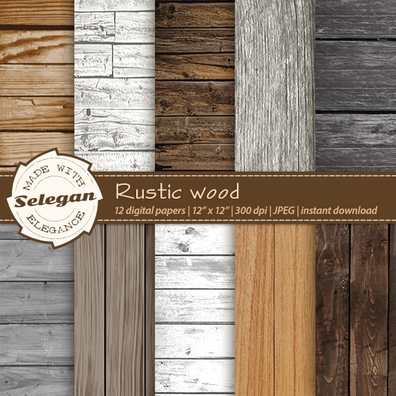 Wood Backdrop Rustic Wood Digital Scrapbook Paper Etsy