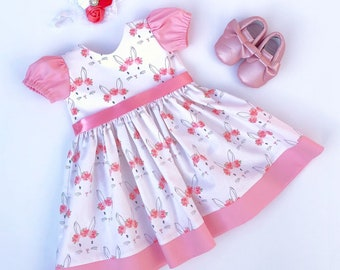 Clothing, Shoes & Accessories Ring Around The Rosie Baby Girls Easter Dress Size 9 M Beautiful W Pink Flowers