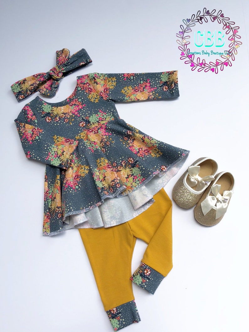 2695f0129af6 Baby girl clothes Baby girl dress outfit leggings and