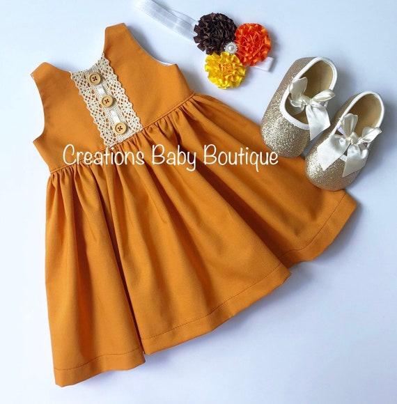 Baby dress thanksgiving baby dress
