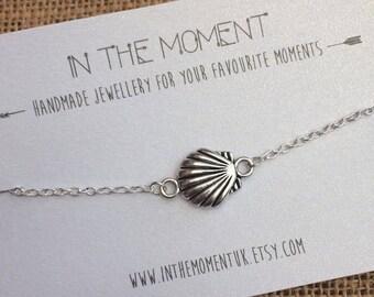 NEW Seashell Anklet, Shell Bracelet, Silver Mermaid Jewellery, Shell Anklet, Beach Jewellery, Mermaid Anklet, Clam Shell Bracelet