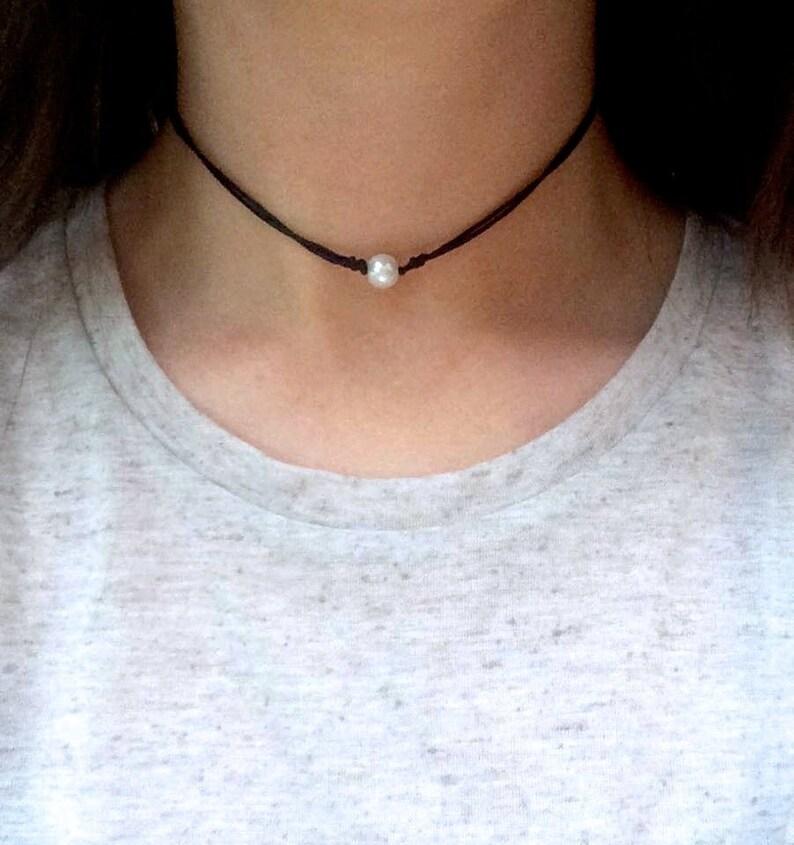 ab8c4eb7d5a Ras du cou perle de Bohème Collier Cordon réglable collier