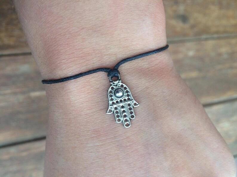 Adjustable Hamsa Hand Bracelet Spiritual Jewelry Hippie Bracelet NEW Hamsa Bracelet Fatima Gift by InTheMomentUK Hipster Bracelet