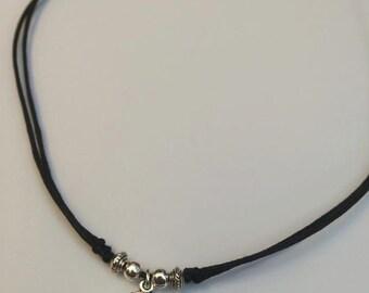 Planet Necklace, Planet Choker, Grunge Charm Choker, Saturn Charm Necklace, 90s Style, Tumblr Fashion by InTheMomentUK