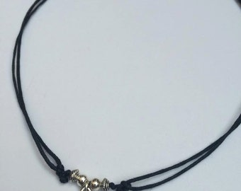 Star Necklace, Adjustable Black Cord Necklace, Choker Necklace, Star Choker, Hipster, Festival Choker, Grunge, Indie, Galaxy Jewellery