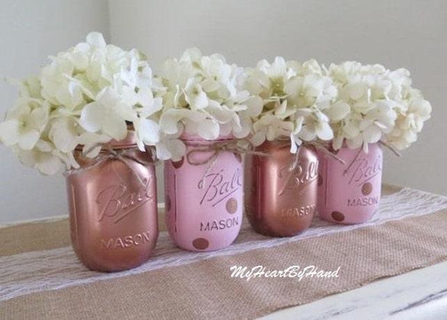 Rose Gold Baby Shower Decorations, Rose Gold Wedding