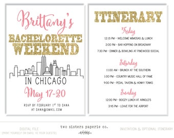 Bachelorette Party Invitations Etsy