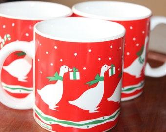 MARSHALL FIELD/'S /& CHRISTMAS 1980 Glass Cocoa ~ Irish Coffee Mug Hot Chocolate 5.25 ~Free Ship