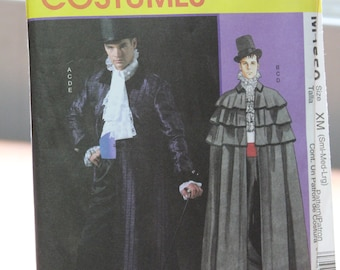 2e0627ec73eb2 McCall's 4550 Men's Costumes Pattern -- Small Medium Large -- Victorian,  Phantom, Opera, Dickens