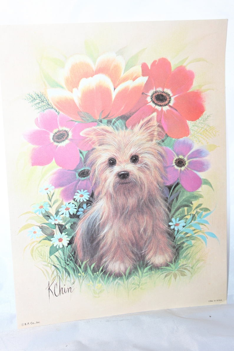 Set Of 3 K Chin Puppy Themed Prints Lab Yorkie Poodle Etsy