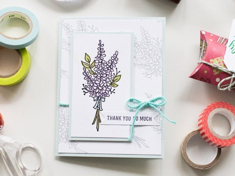 Thank You So Much Handmade Greeting Card image 0