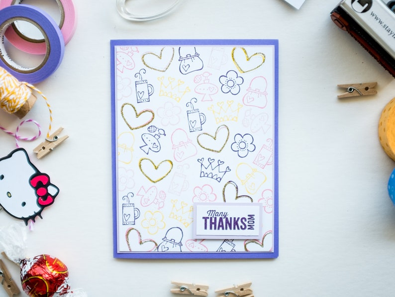 Cute Jolly Notes Mother's Day Handmade Card image 0