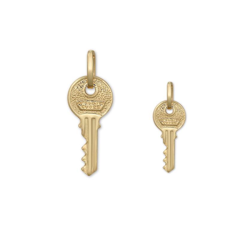 Solid 14K Gold Key Charm Pendant