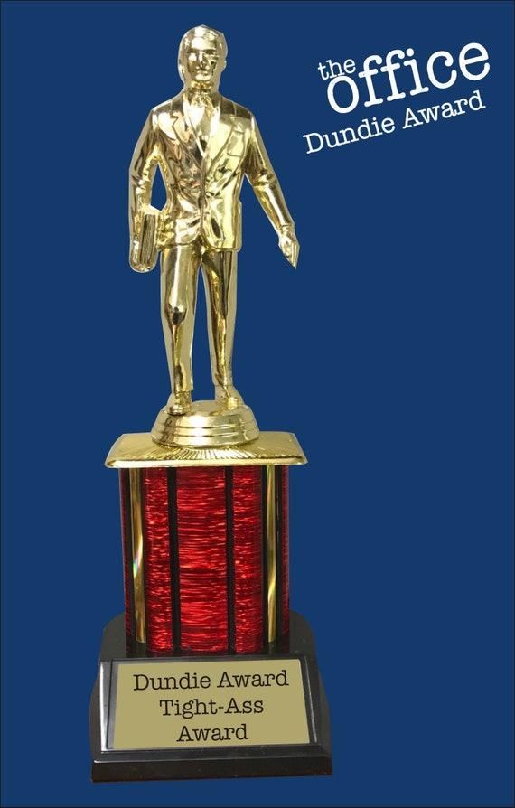 Dwight Schrute Promising Assistant Manager Dundie Award Trophy The Office TV Show Michael Scott Dunder Mifflin Dundies Dundee Prop Gift Idea