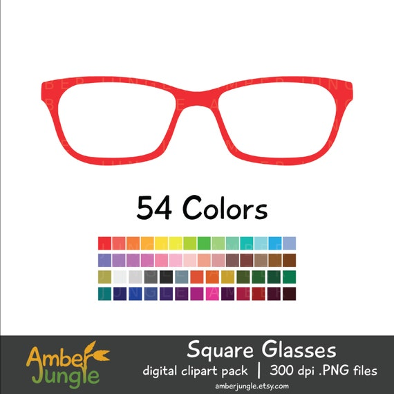 Glasses Clipart for Planner Stickers Hipster Clip Art Nerdy | Etsy