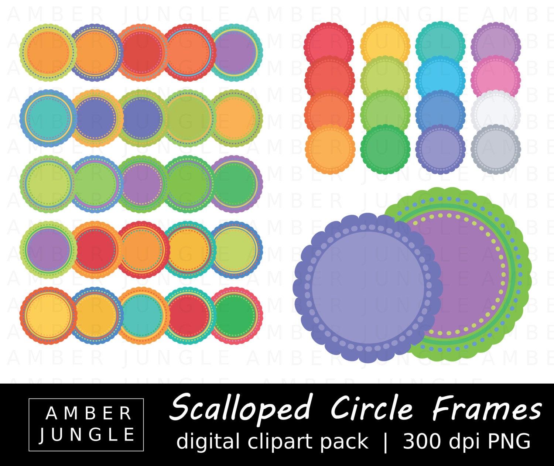 Überbackene Kreis Rahmen Clipart Runde Deckchen | Etsy