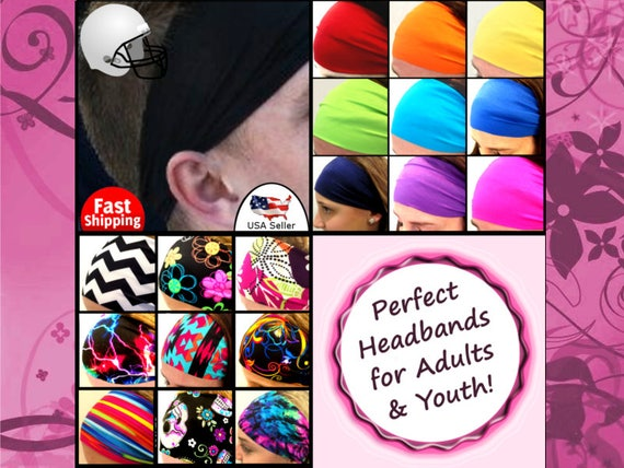Running Jogging Track Headbands Wick Sweat Stay On Various Colors Brown