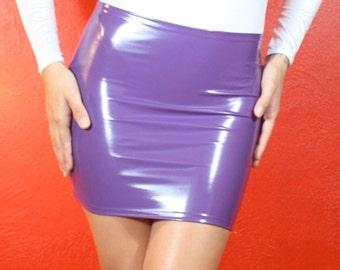a7b2abb27 Hiphugger Micro Mini Skirt in Gloss Stretch PVC Vinyl, by Suzi Fox