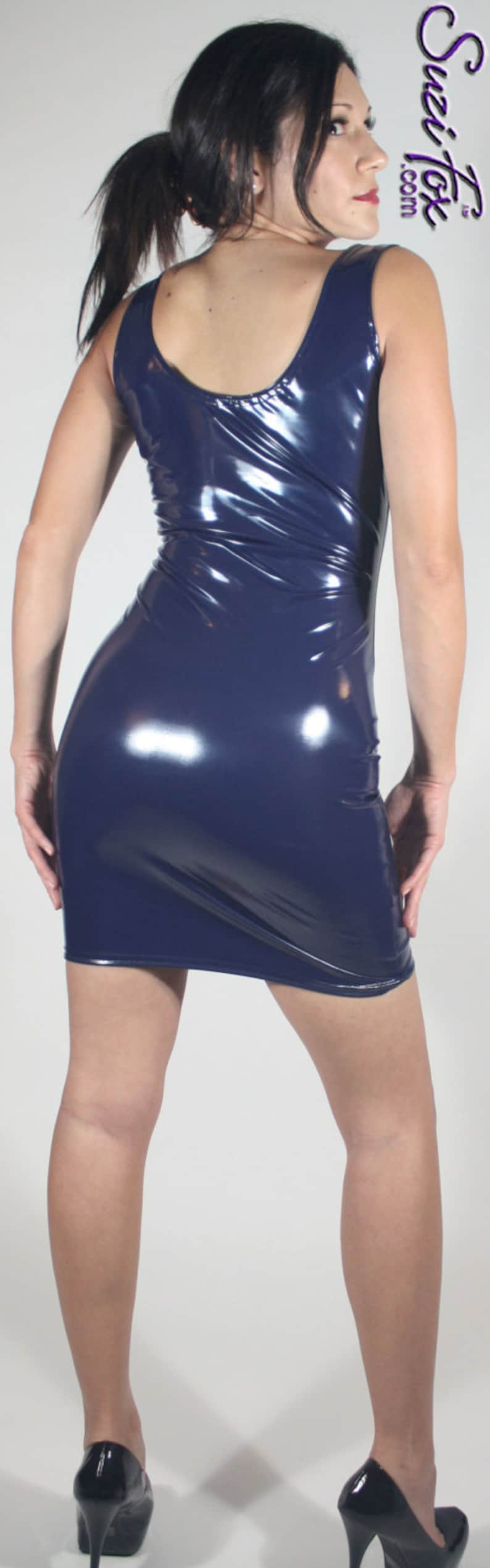6ad60fc633e Tank style Mini Dress in Gloss Stretch Vinyl PVC by Suzi Fox