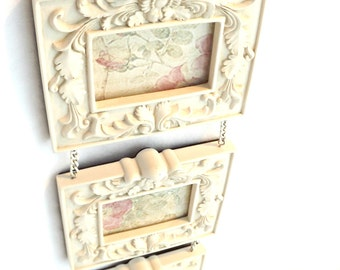 Shabby Chic Resin Frames, Collage Shabby Chic Picture Frames,Hanging Photo Frames, Shabby Chic Decor, Home Decor, Vintage Decor,Resin Frames