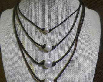 8mm Small Single Pearl Necklace