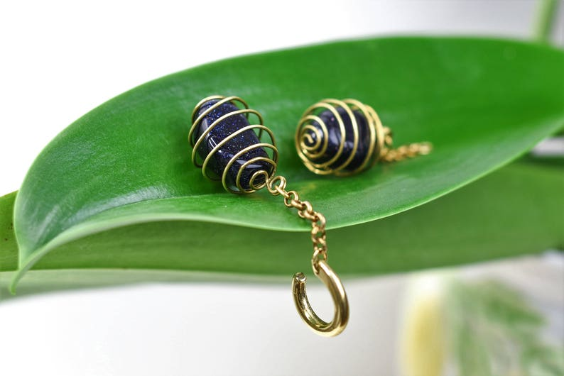 Brass Hamghts with Bluefin Stones