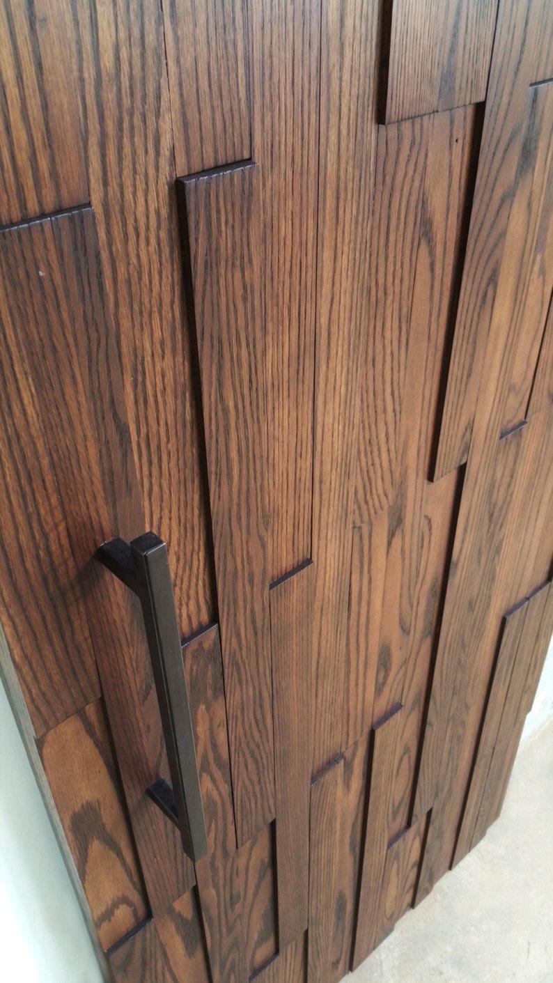 Modern Oak Barn Door Solid Wood Home Decor Etsy