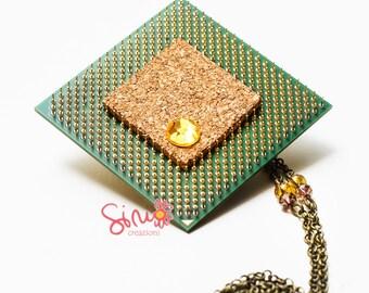 Necklace-Brooch. P.U. -You. P.U. Necklace-brooch