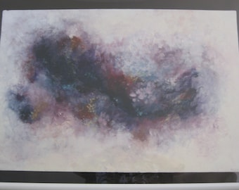 Large Cloud Abstract #6, oil on foamcore