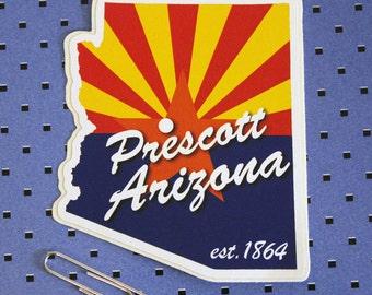 c11360321 Prescott, Arizona Flag Bumper Sticker