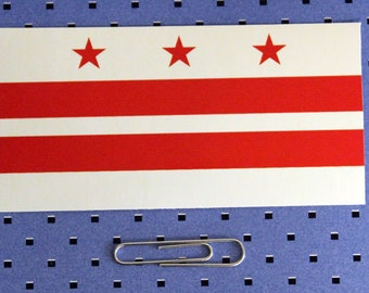 District of Columbia Flag Sticker Decal Bumper Washington DC 2 Pack 5in