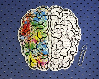 Brain Hemispheres  Bumper Sticker