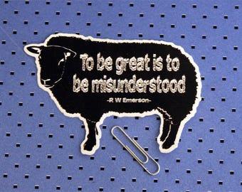 Black Sheep Emerson Quote Bumper Sticker